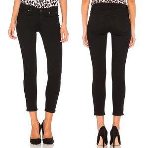 [Paige] Vertigo Crop Black Skinny Jeans 25 Overdye